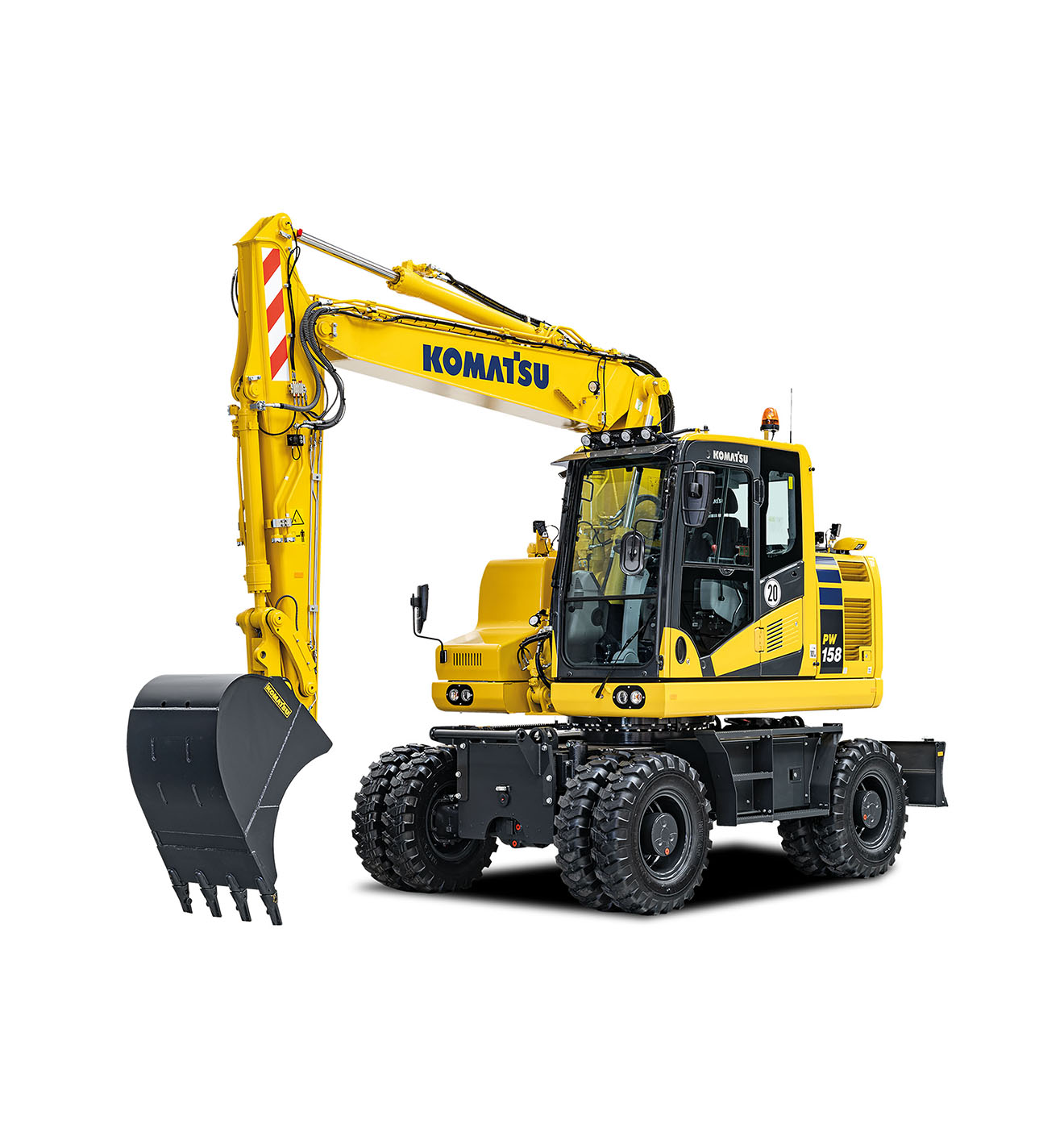 Komatsu Europe Introduces new PW158-11 Wheeled Excavator