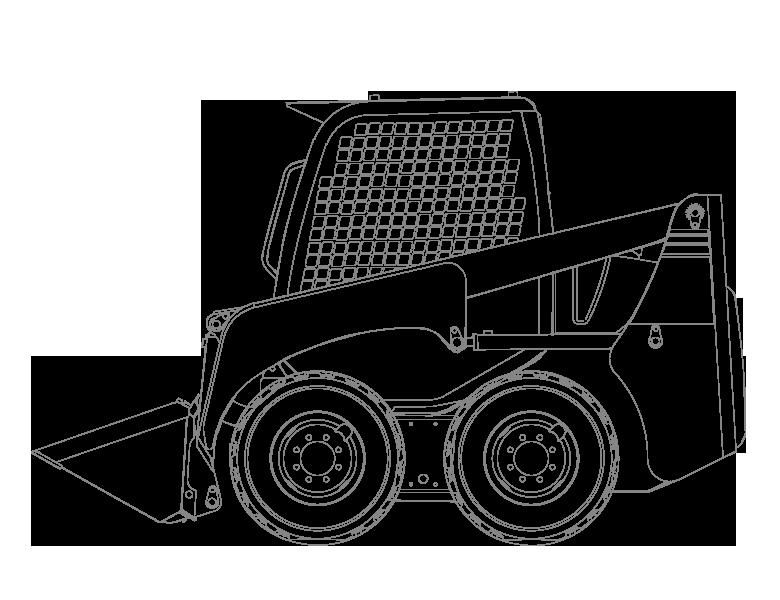 Archive products: Komatsu Wheeled Skid Steer Loader SK1026